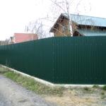 Забор из профлиста. Цвет зеленый мох