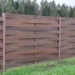 Забор деревянная плетенка