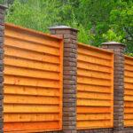 Елочка деревянный забор