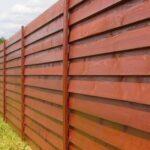 Забор деревянный елочка