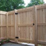 Забор деревянный с калиткой