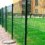 Забор из сетки зеленый