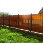 Забор сварной с поликарбонатом сотовым