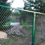 Забор сетка рабица в рамке