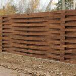 Забор деревянный плетенка