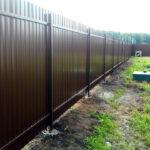Забор из профлиста двухторонний RAL 8017