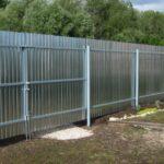 Забор из профлиста оцинкованный