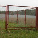 Забор рабица в рамке