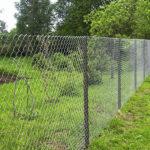 Забор с сетки рабица