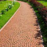 Садовая дорожка клинкерная брусчатка