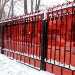 Сварной забор и наполнение из поликарбоната
