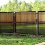 Забор из поликарбоната нашивной