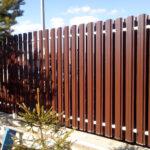 Забор из металлиеского штакетника