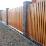 Забор деревянный штакетка